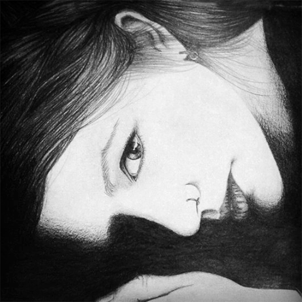 Maria / Pencil on paper.
